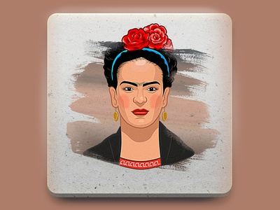 Frida sticker illustration