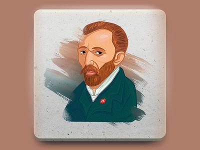 van Gogh sticker illustration