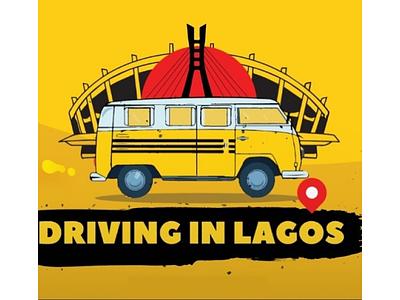 Driving in Lagos illustration banner traffic lagos
