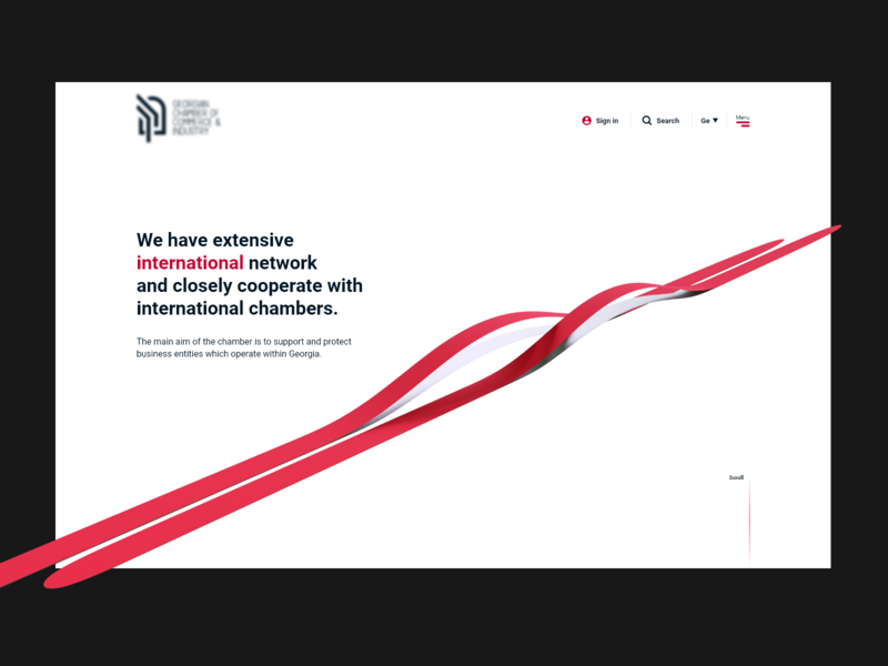 Clean one business website white red minimalistic whitespace international export import business website 3d minimal clean web desgin landing page design web white and red ux ui