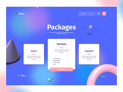 3D Basic Shapes Packages website hero image web design web ui  ux ux ui simple shapes render pink minimal landing page gradient design clean blue 3d illustration 3d design 3d