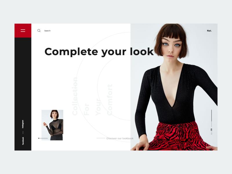 Nat. design web ux ui fashion