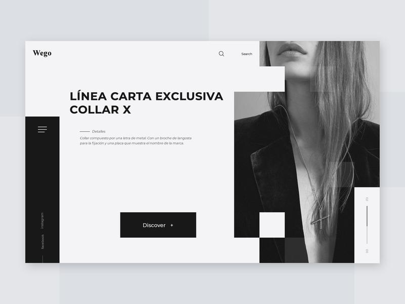 Wego girl minimalist design grey black and white black black  white website webpage design web desgin web application landing page inspiration fashion web ux ui design