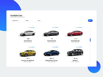 NMotors Cars clean white gradiant blue cars car website webpage design web desgin web application landing page inspiration web ux ui design