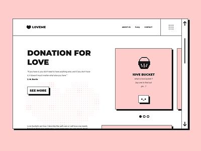 LOVEME love minimalistic minimal vintage retro pixel pink web application landing page inspiration web ux ui design