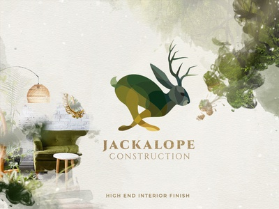 Jackalope Construction Logo