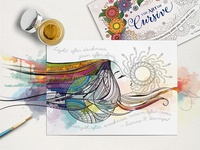 The Art Of Cursive coloring book page