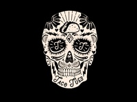 Taco Tues Skull Illustration