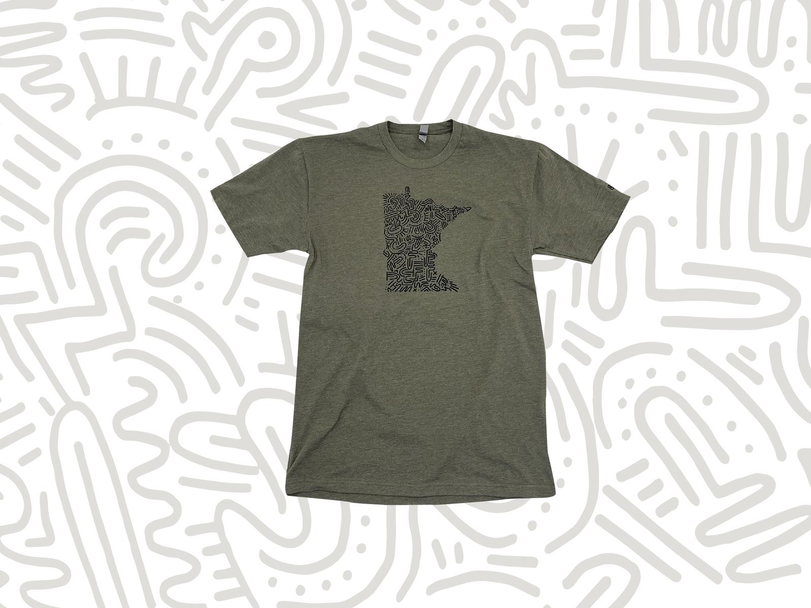 Minnesota T Shirt Collab With Chux Print By Dustin Cox Dribbble