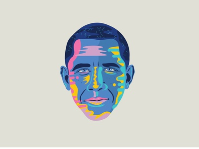 """""""Yes We Can"""" portrait usa yeswecan potus obama contemporary art design illustration"""