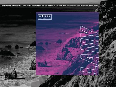 Malibu Nights: Album Artwork treatment