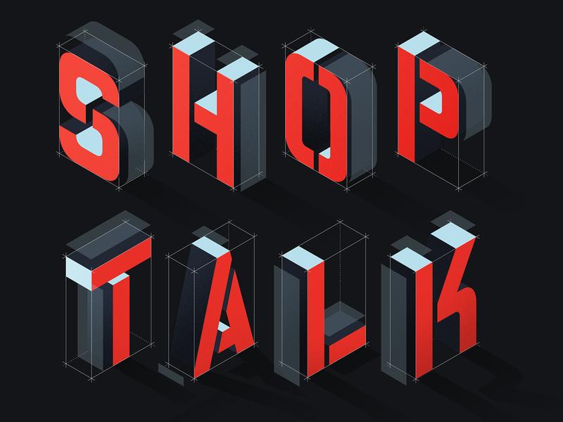 Shop Talk illustration lettering
