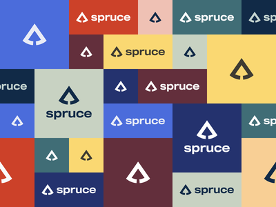 Spruce Colors flat vector color design logo branding