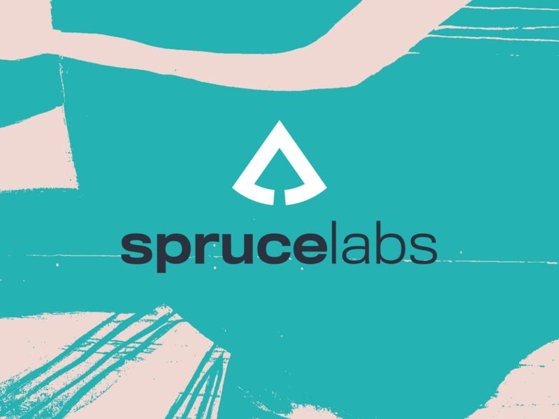 Spruce Labs Texture typography logo design branding