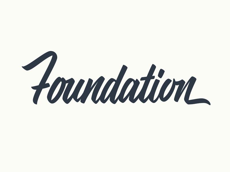 Foundation lettering