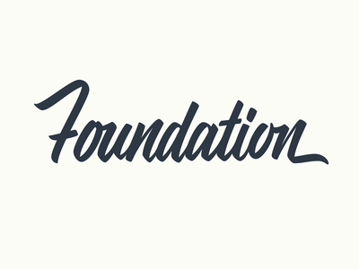 Foundation lettering
