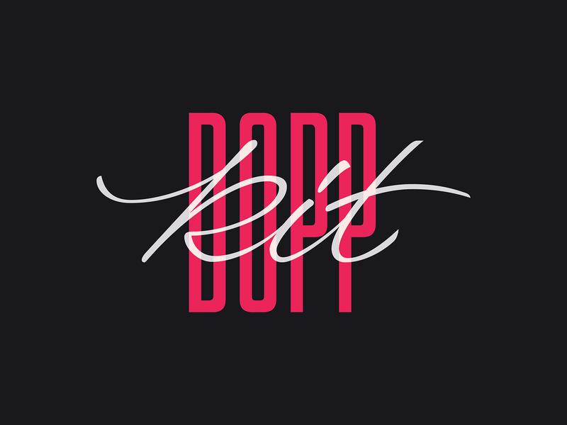 Dopp Kit lettering