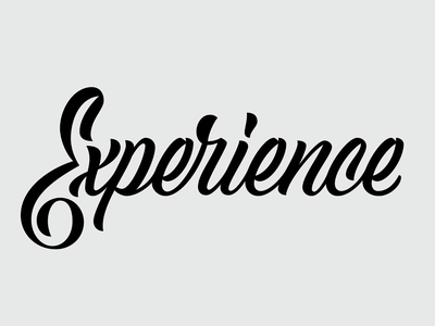 Experience lettering
