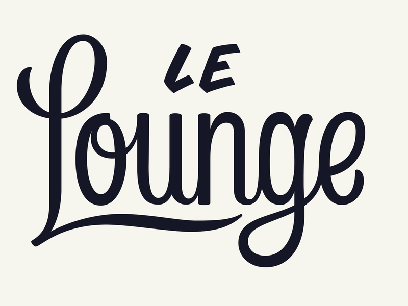 Le Lounge handlettering lettering