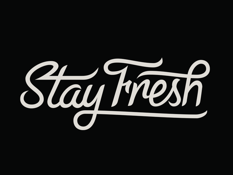Stay Fresh handlettering typography lettering