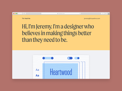 Tin Yeah No digital website ui flat typography branding design