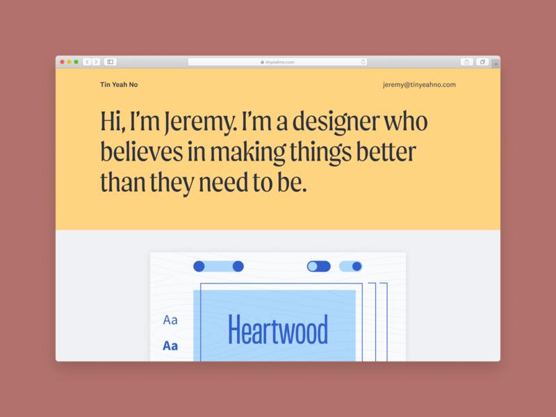 Tin Yeah No digital website ui flat typography branding design