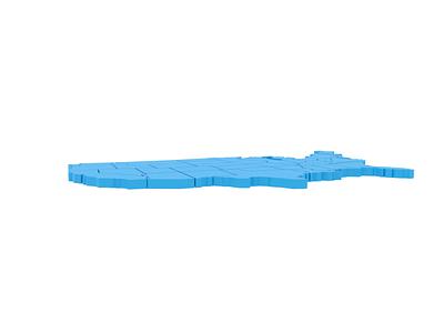 We're Hiring blue illustration north carolina virginia charlotte richmond map 3d blender animation ui ux creative director art director visual design job hiring