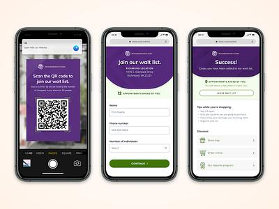 Retail Queuing App iphone 2020 covid covid19 ux ui queuing retail design