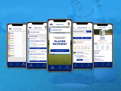 U.S. Kids Golf Training App mobile design mobile app desktop iphone uidesign kids training golf visual design ux ui