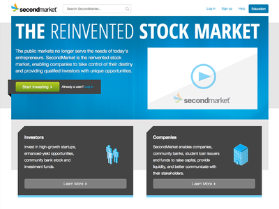SecondMarket Homepage