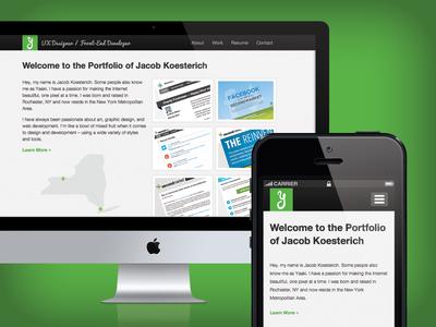 Responsive Portfolio html css illustrator jquery bootstrap responsive design
