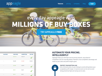 Appeagle Features Page appeagle css html illustrator photoshop wordpress web design responsive