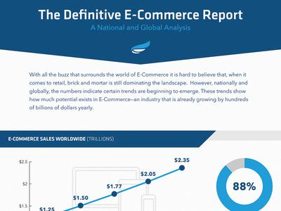 The Definitive E-Commerce Report appeagle infographic illustrator vector e-commerce