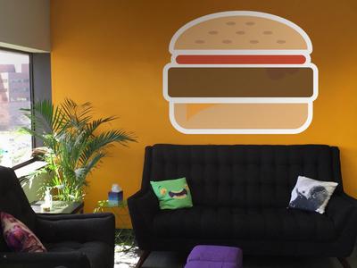 Hamburger Wall hamburger vector appeagle stickermule