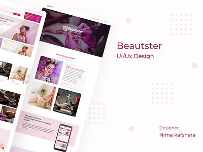 Beautster ux ui design branding graphic design adobe xd