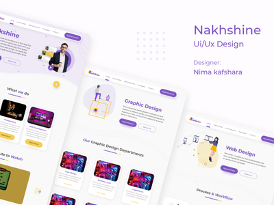 nakhshine ui/ux Design graphic design vector adobe illustrator adobe photoshop ux ui branding adobe xd