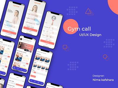 Gymcall app ux ui branding adobe illustrator graphic design adobe xd