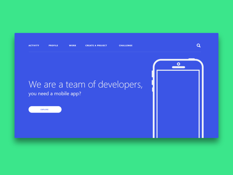 Dev Team website ux ui design