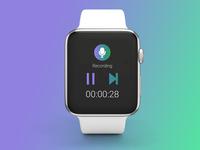 Smart watch Recording