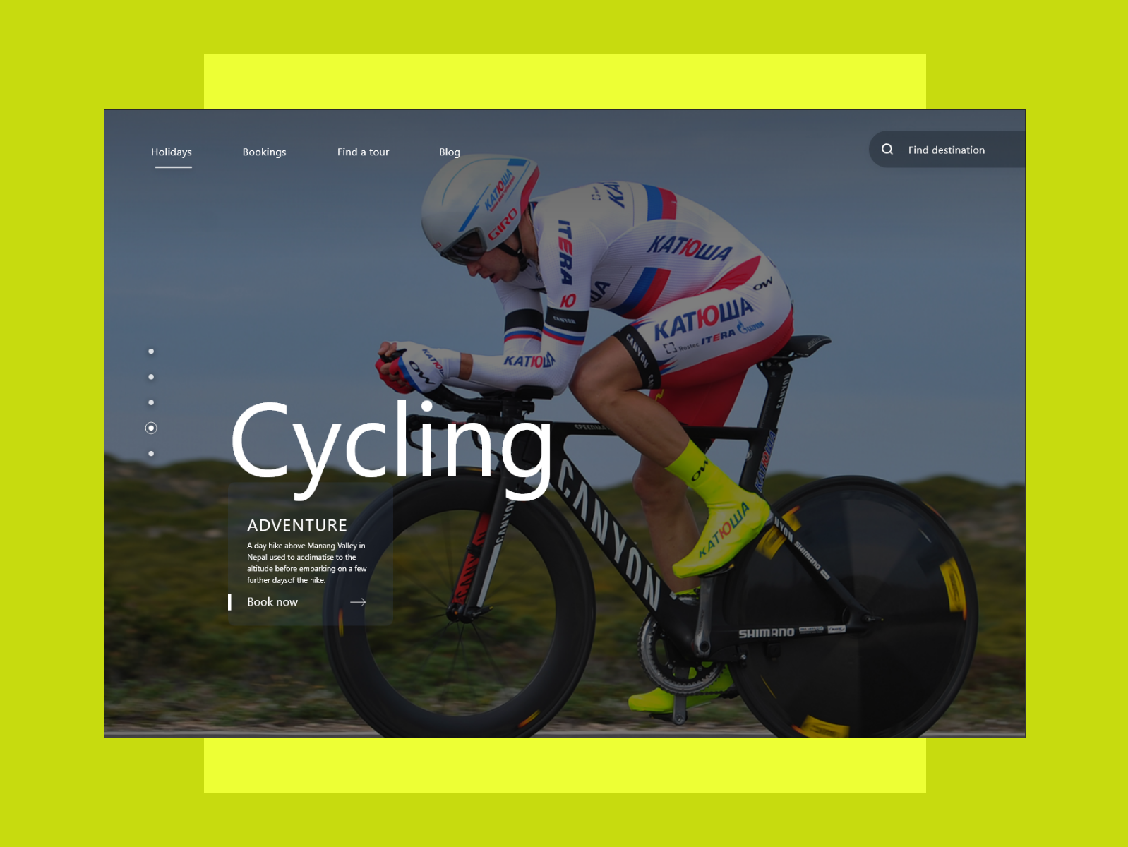 Cycling website design ux ui