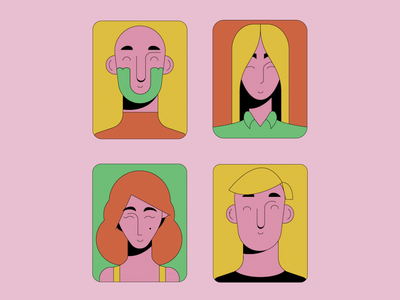 People vector design illustration drawing character