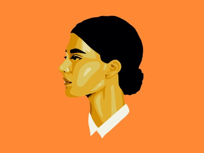 Golden Woman drawing colors design illustration website procreate golden woman