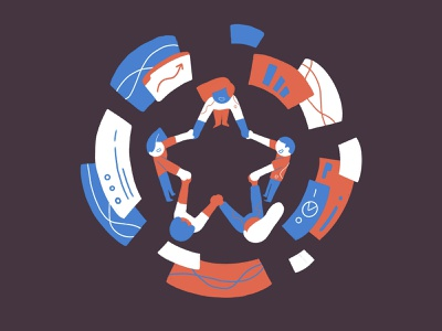 Star group - keepinnovating colors illustration procreate design drawing