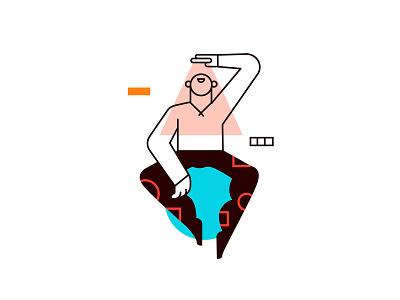Litttle Mirror branding colors vector character design illustration drawing