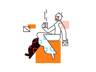 Mornings character vector design illustration drawing
