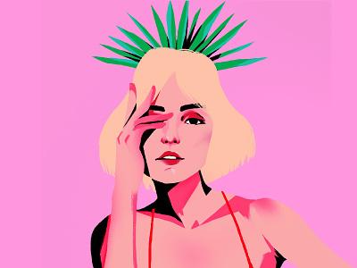 Mezcal mezcal mexico girl colors procreate design vector illustration drawing