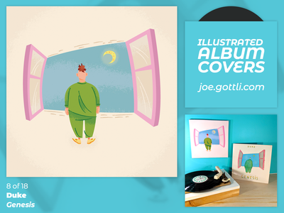 Illustrated Album Covers - Duke by Genesis