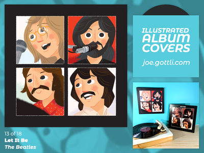 Illustrated Album Covers - Let It Be by The Beatles