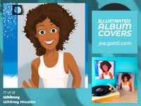 Illustrated Album Covers - Whitney by Whitney Houston