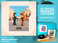 Illustrated Album Covers - Wish You Were Here